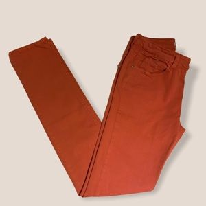 Mid to Low Waist Red/orange Jeans